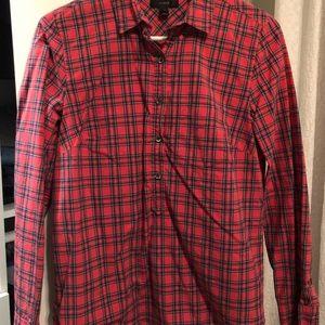 Red Tartan Popover Plaid Shirt